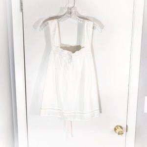 NWT Mossimo Supply Co. White Cotton Sleeveless Top
